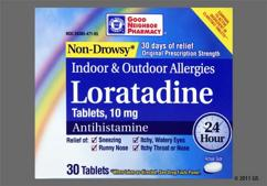white oblong - GNP Non-Drowsy Loratadine 24 Hour 10mg Tablet