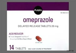 Red-Brown Oblong 20 - Publix Omeprazole 20mg Delayed-Release Tablet