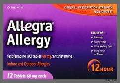 Peach Oblong Tablet Logo And 06 - Allegra Allergy 12 Hour Tablet