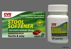 Red P51 - CVS Stool Softener 100mg Liquid Gels