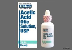 Acetic Acid Coupon - Acetic Acid 15ml of 2% ear dropper