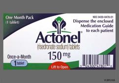 Blue Oval Dose Pack Rsn And 150Mg - Actonel 150mg Tablet