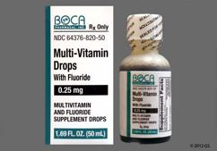 brown - Multi-Vitamin with Fluoride 0.25mg Drops