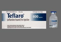 Teflaro Coupon - Teflaro 600mg vial