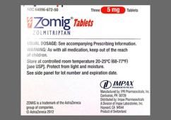 Pink Round Dose Pack Zomig 5 - Zomig 5mg Tablet