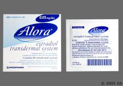 Alora Coupon - Alora 8 patches of 0.05mg/day carton
