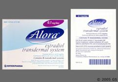 Alora Coupon - Alora 8 patches of 0.1mg/day carton