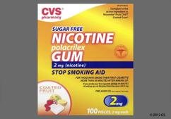 peach rectangular gum - CVS Nicotine Polacrilex 2mg Chewing Gum (Fruit)