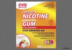 peach rectangular gum - CVS Nicotine Polacrilex 4mg Chewing Gum (Fruit)