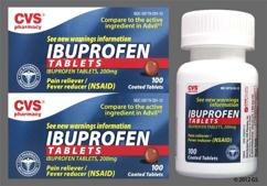 Brown Round Tablet 44 291 - CVS Ibuprofen 200mg Tablet