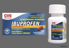Brown And Red Oblong 44-292 - CVS Ibuprofen 200mg Caplet