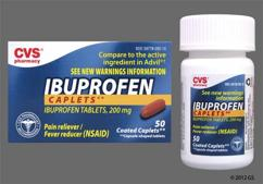 Red-Brown Oblong 44-292 - CVS Ibuprofen 200mg Caplet