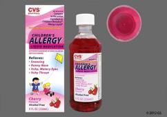 red - CVS Children's Allergy 12.5mg/5mL Liquid (Cherry)