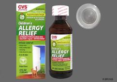 colorless - CVS Children's Allergy Relief 1mg/ml Solution (Grape)