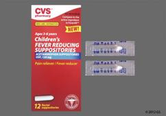 white bullet suppository - CVS Children's Fever Reducing 120mg Rectal Suppository
