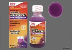 purple - CVS Children's Ibuprofen 100mg/5mL Suspension (Grape)
