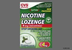 White Round Lozenge L873 - CVS Nicotine Polacrilex 4mg Lozenge (Mint)