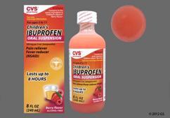 orange - CVS Children's Ibuprofen 100mg/5mL Suspension (Berry)