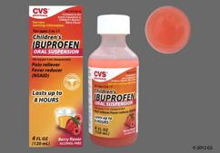 orange - CVS Children's Ibuprofen 100mg/5ml Suspension (Berry)