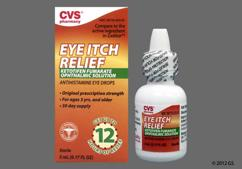colorless - CVS Eye Itch Relief 0.025% Ophthalmic Solution