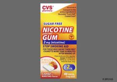 white rectangular gum - CVS Nicotine Polacrilex 2mg Chewing Gum (Fruit Wave)