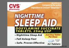 Blue Oblong L441 - CVS Nighttime Sleep Aid 25mg Tablet
