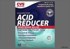 Pink Round Tablet P 75 - CVS Acid Reducer 75mg Tablet