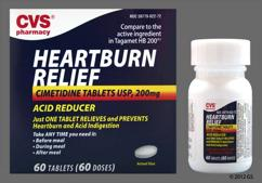 White Oval Tablet L022 - CVS Heartburn Relief 200mg Tablet