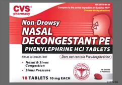 Red Round L7 - CVS Nasal Decongestant PE 10mg Tablet