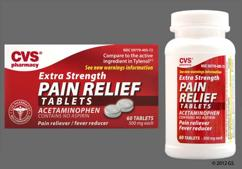 White Round Tablet L405 And 500Mg - CVS Pain Relief Extra Strength 500mg Tablet