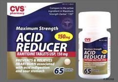Pink Round Tablet R150 - CVS Acid Reducer Maximum Strength 150mg Tablet