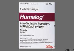 Humalog Coupon - Humalog five 3ml cartridges of 100 units/ml carton
