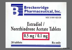 Estradiol / Norethindrone Coupon - Estradiol / Norethindrone 28 tablets of 0.5mg/0.1mg package