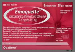 Emoquette Coupon - Emoquette 28 tablets of 0.15mg/0.03mg package