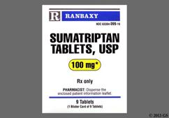 White Oblong Dose Pack Rb97 - Sumatriptan Succinate 100mg Tablet