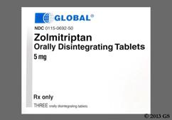 White Round Z 5 - Zolmitriptan 5mg Orally Disintegrating Tablet