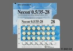 White Round P And Watson - Necon 0.5/35-28 Tablet