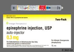 colorless - Epinephrine 0.3mg/0.3ml Auto-Injector Solution For Injection