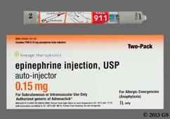colorless - Epinephrine 0.15mg/0.15ml Auto-Injector Solution for Injection