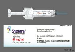 yellow - Stelara 90mg/ml Solution for Injection