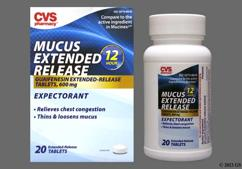 white round - CVS Mucus Extended Release 600mg Extended-Release Tablet