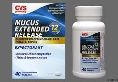 White Round L498 - CVS Mucus ER 600mg Extended-Release Tablet