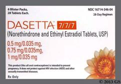 Dasetta 7/7/7 Coupon - Dasetta 7/7/7 28 tablets package