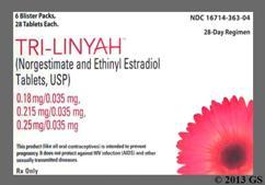 Tri-Linyah Coupon - Tri-Linyah 28 tablets package