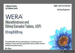 White Round P And N - WERA 0.5/0.035 28-Day Tablet