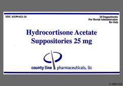 white bullet - Hydrocortisone Acetate 25mg Rectal Suppository