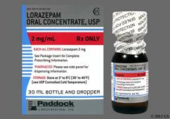 lorazepam oral concentrate storage