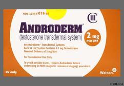 beige round carton - Androderm 2mg/24hr Transdermal System