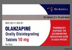 Yellow Oblong Orally Disintegrating Tab R-263 - Olanzapine 10mg Orally Disintegrating Tablet