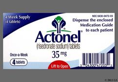 Actonel Coupon - Actonel 4 tablets of 35mg dose pack